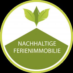 Logo: Zertifizierung der nachhaltigen Ferienimmobilien